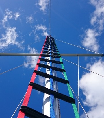 View Before Climbing a Yacht Mast Ladder
